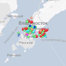 Карта движения судов